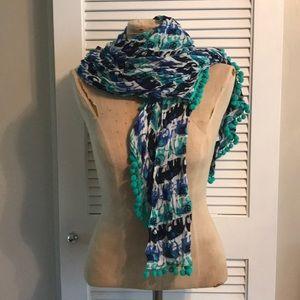 Elephant scarf with Pom Pom Detail